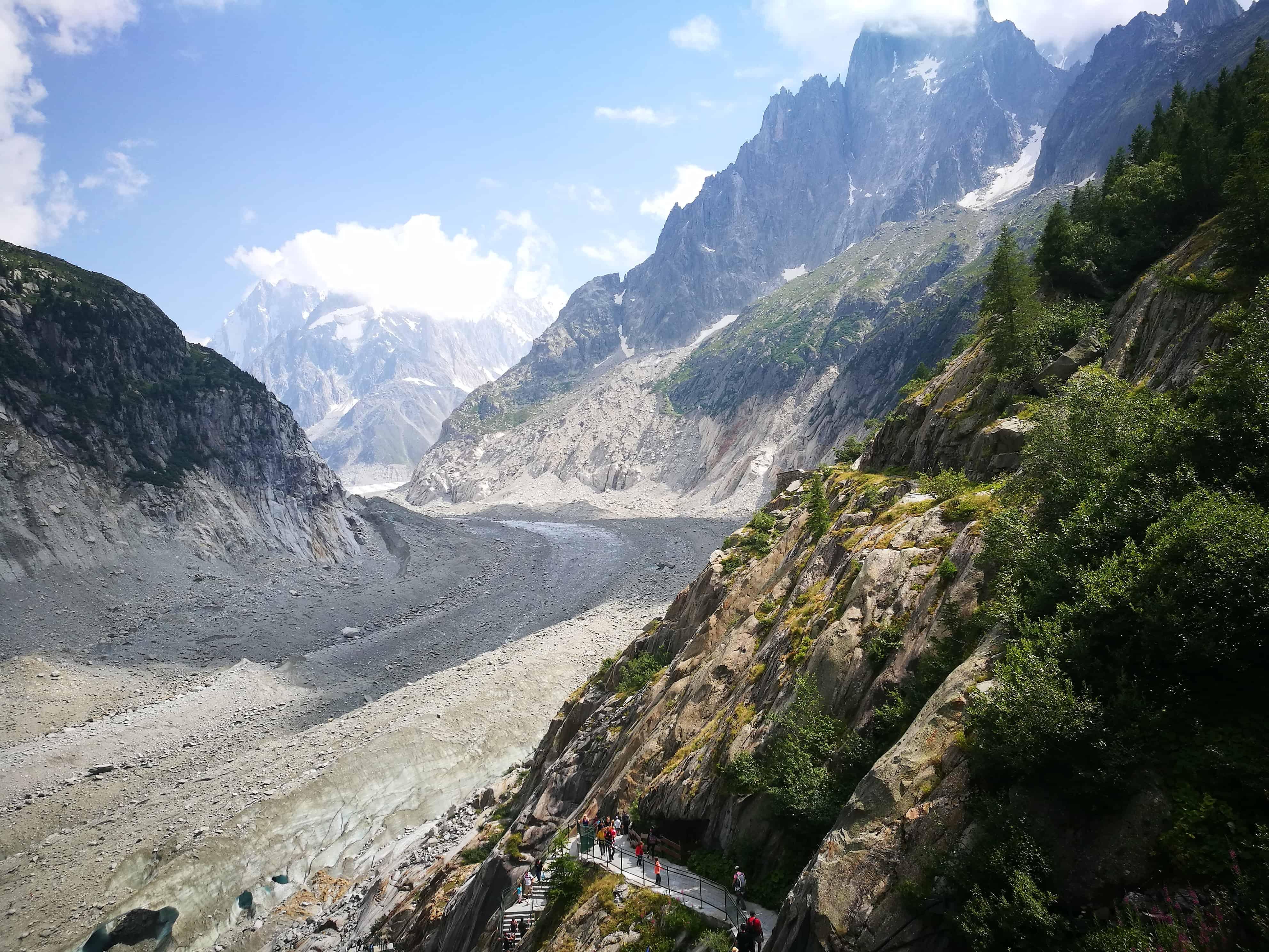Fast abgeschmolzener Gletscher in Frankreich