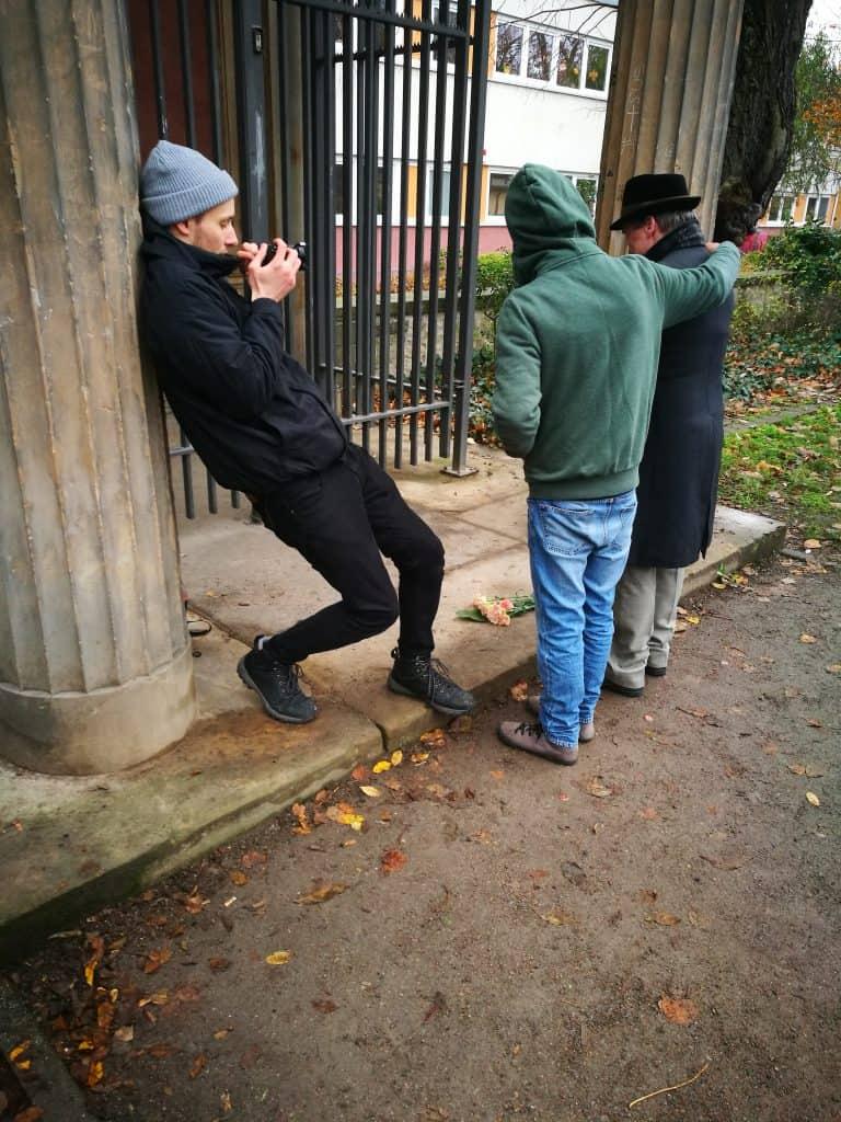 Julius Dürrfeld in Action am Filmset