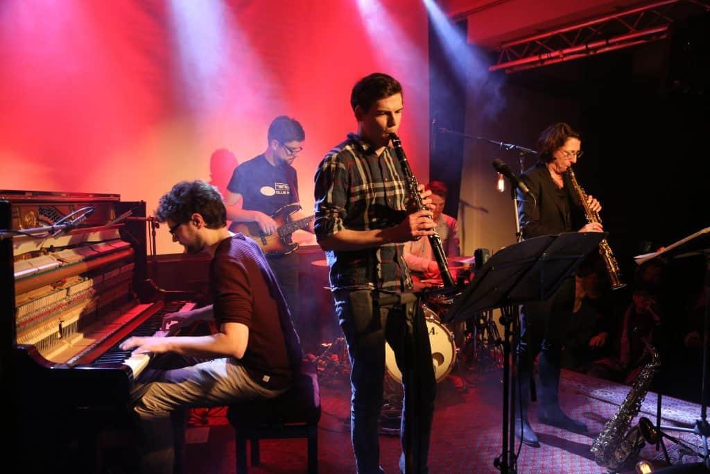 Philipp Hermann Quintett auf der Bühne