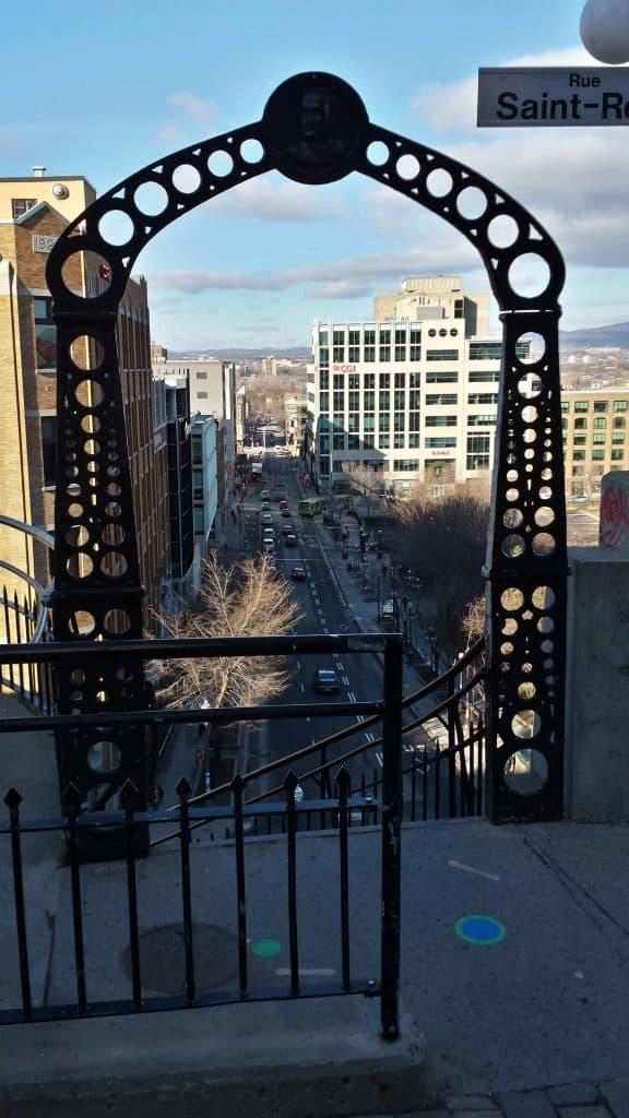 Blick über die Unterstadt von Québec
