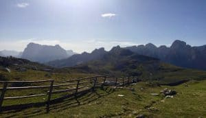 Ruhiges Bergpanorama