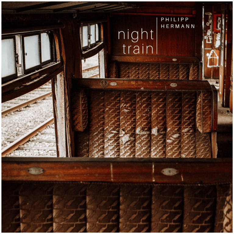 """This is the artwork to Philipp Hermanns piano piece """"night train""""."""